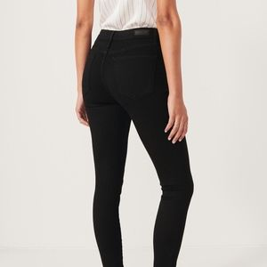 Abercrombie HIGH RISE SUPER SKINNY JEANS Black